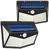Lámparas Solares Exterior,swonuk 212 LED 2 Unidades Luz Solar Exterior Foco Solar Exterior con Sensor de Movimiento...