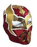 SIN CARA Youth Lucha Libre Wrestling Mask - Kids Costume Wear - Burgundy