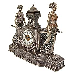Madison Collection Versailles Maidens Mantel Clock