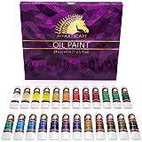 Oil Paint Set - 24 x 21ml Tubes - Artist Quality - Rich Vivid Oil-Based Colors -...