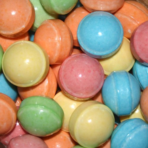 Dubble Bubble Bleeps Coated Candy Balls 28-29mm, 2 Pounds Tangy Fruit Flavored