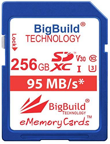 eMemoryCards - Scheda di memoria ultra veloce U3 SDXC 95MB/s da 256 GB, compatibile con fotocamera Canon EOS 850D, Canon EOS M200