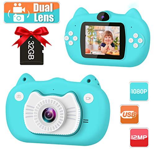 GKTZ Kids Camera Digital Dual Lens Video Cameras for Children Toys Camcorder...