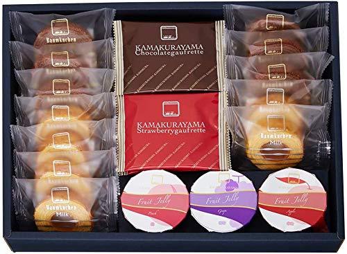 「鎌倉山」監修 ギフトコレクション バームクーヘン (計12個) ゴーフレット (計10個) ゼリー (計3個)