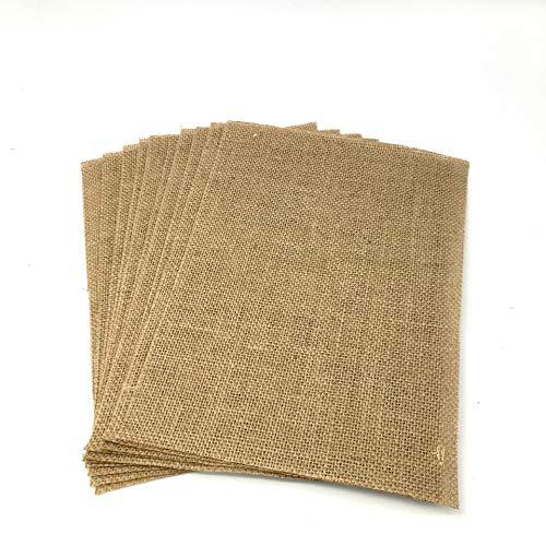 Juego de manteles individuales de yute de Egurs, 10 unidades, 12 x 17 cm, para casa o boda