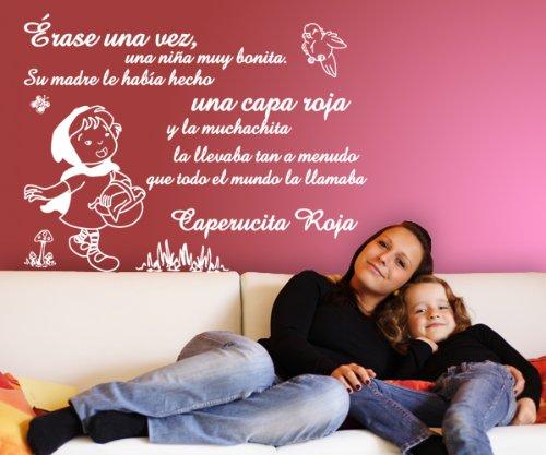 Vinilos decorativos de caperucita roja 160x120 cms Blanco