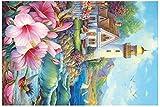 Rompecabezas de paisajes para Adultos 150 Piezas Desafío Rompecabezas de imágenes Juguete Inteligente Juego de Cerebro Regalo Personalizado para niños Adultos y Personas Mayores - Faro costero