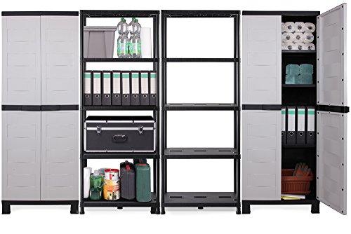 Ondis24 Kunststoffschrank & Kunststoffregal 4er Set Prestige