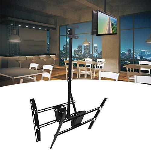 Soporte de TV colgante, soporte de montaje en techo de TV duradero de hierro, práctica barra de estación giratoria para lugares públicos para TV de 37 a 70 pulgadas