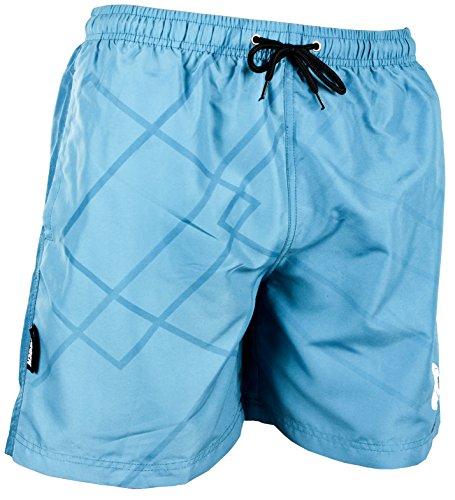GUGGEN Mountain Badehose für Herren Schnelltrocknende Badeshorts Beachshorts Boardshorts Schwimmhose Männer Blau M
