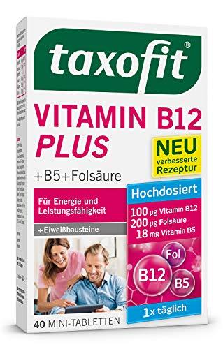 taxofit® Vitamin B12 Plus 40 Mini-Tabletten für Energie und geistige Leistung