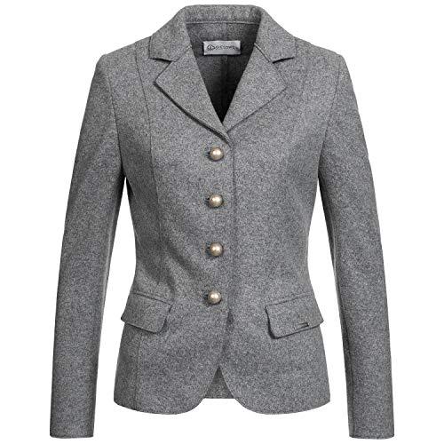 GIESSWEIN Damen Blazer Ellen - Walk Jacke aus 100% Lammwolle, taillierte Blazerjacke, weiche Wolljacke, mit Ärmelpatches, Trachtenjacke, Janker