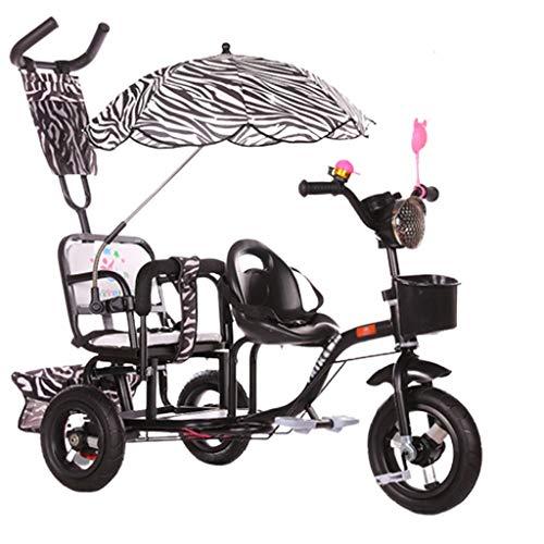 Xiix Cochecito de bebé Triciclo Doble for niños Cochecito Doble Segundo niño...