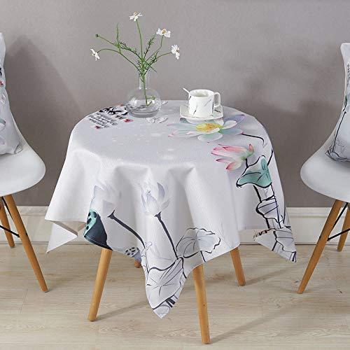 LIUJIU Home Nappe de Table carrée résistante à la saleté et à l'eau Effet Lotus Facile d'entretien Disponible en différentes Tailles e, 43X43cm