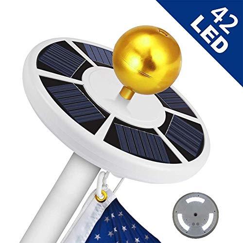 Earthily Solar Flagpole Light - 42 LED Solar Flag Pole Light,Solar Fahnenmast Fahnenstange Licht für Camping im Freien