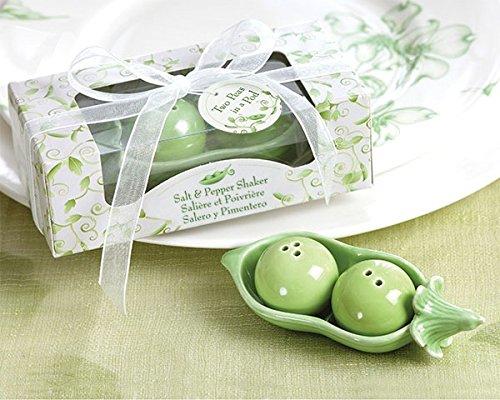 10 Coppie di Piselli in Ceramica in un Pod Salt & Pepper Shakers in Ivy Print Box Gift Favori di Nozze