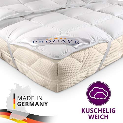 PROCAVE Micro Confort Protector colchón en Varios tamaños, Made in Germany, Funda colchón de Microfibra y poliéster, Soft Touch, Válido para Camas de Agua y Box Spring, 90x190 cm