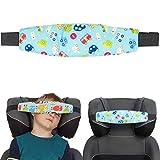 Kopfhalter für Kindersitze, 1 Pack, Auto Design, Baumwolle Bezug, verwendbar mit Baby Nackenkissen, Kinder schlafen im Auto Zubehör, Kopfgurt Autositz, Auto Reise Kinder schlafen, Kopfband Autofahrt