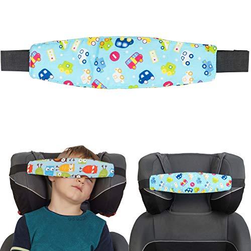 Kindersitz Kopfhalter, Auto Design für Jungen, Einstellbare Laufställe, Schlaf Stellungsregler für Kindersitz, Kinderwagen, Kopf Halter für Autofahrt, Autositz Befestigung zum Schlafen, Kopfband