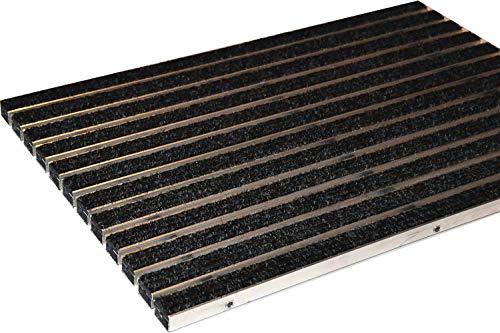 EMCO Eingangsmatte DIPLOMAT Rips anthrazit 22mm ALU Fußmatte Türmatte Schuhabstreifer Abstreifer,...