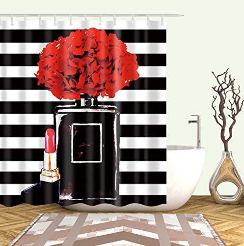 YUWO Parfum en lippenstift douchegordijn decoratie badkamer gordijn douche puur decoratie