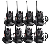 Walkie Talkie Recargable 16 Canales CTCSS DCS Walkies Talkies con el Auricular Incorporado Antorcha de LED y Cargador USB (4 Pares)