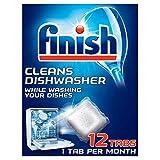 Finish In-Wash - Limpiador de lavavajillas (12 tabletas)