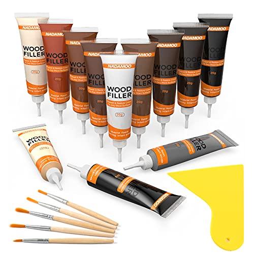 NADAMOO Wood Furniture Repair Kit Wood Filler Scratch Repair...