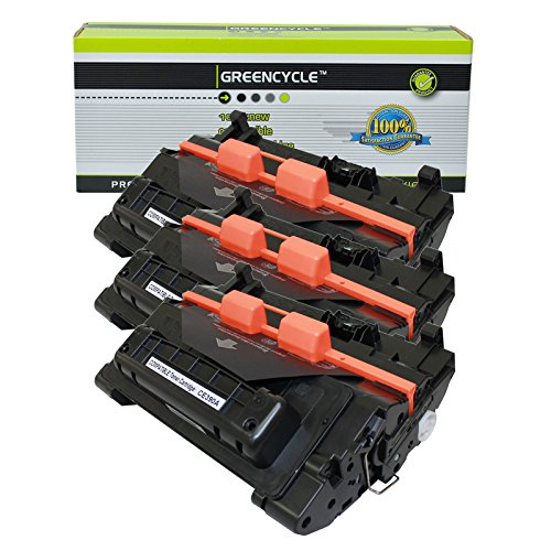 GREENCYCLE CE390A 90A Toner Cartridge Replacement Compatible for Laserjet M4555f M4555h M4555fskm Enterprise 600 M601dn Series Printer (3 Pack, Black)