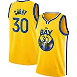 Curry Golden State Warriors # 30 Swingman Jersey, Camisetas De Baloncesto De Malla De Malla Sin Mangas Camiseta de Fan(Size:M,Color:A1)