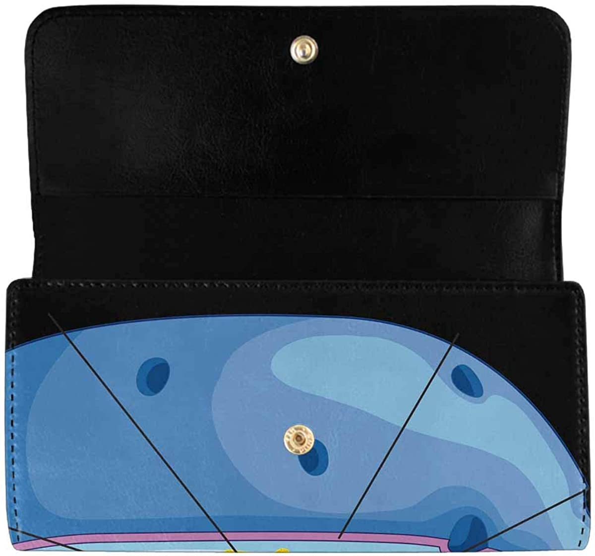 INTERESTPRINT Women's Trifold Clutch Purses Dark Tunnel with Interesting Structures Card Holder Wallet