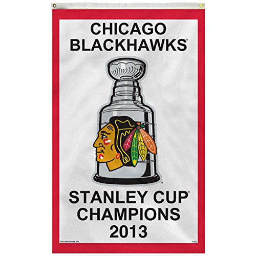 Rico Chicago Blackhawks 2013 Stanley Cup Champions 3x5 Vertical Banner Flag