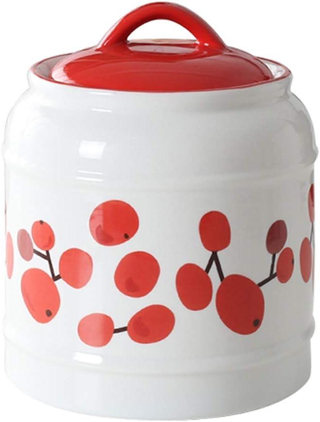 休み UCYG 最新アイテム Ceramic Pottery Cereal Containers Canister Jar Airt Cookie