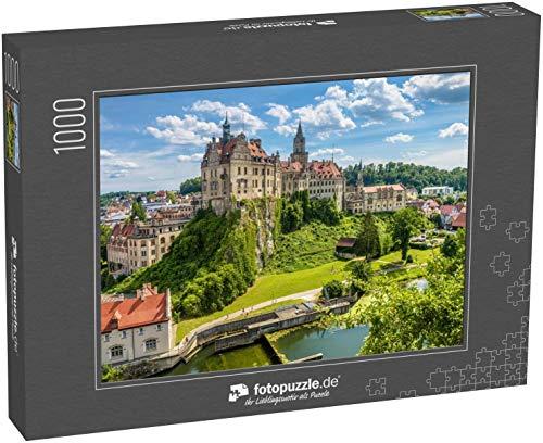 fotopuzzle.de Puzzle 1000 Teile Schloss Sigmaringen über der Donau, Baden-Württemberg, Deutschland Diese Burg ist EIN Wahrzeichen Schwabens (1000, 200 oder 2000 Teile)