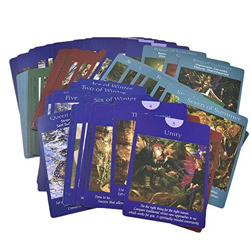 vogueyouth 78 Wunderschöne Tarot-Karten Unbekanntes Tarot-Deck Englische Märchen-Kinderkarten für Brettspiele charmingly