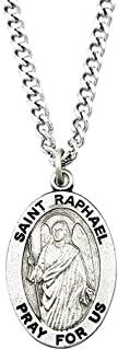 Rosemarie Collections Religious Saint Medal Pendant Necklace 24