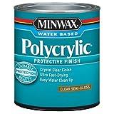 Minwax 64444444 Polycrylic Protective Finish Water Based, quart, Semi-Gloss
