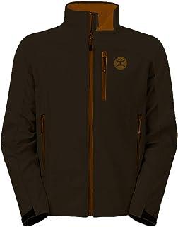 HOOey Men's Softshell Jacket, Brown Texture with Cinnamon
