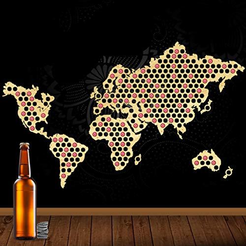 Mapa mundo Mapa tapa Cerveza Checa Tapa Botella Madera