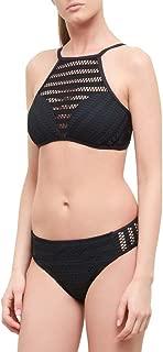 Cadocado Womens Retro High Neck Swimsuit Halter Tankini Top Bathing Suit
