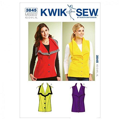 Kwik Sew Schnittmuster Damen-Weste 3845-(O/S)