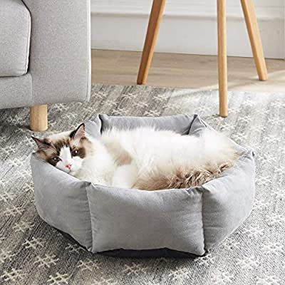 WESTERN HOME WH Cat Beds for Indoor Cats Round ...