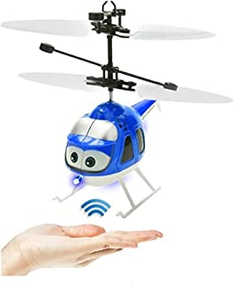 Leezo Flying Ball Remote Control Helicopter Toy Plane RC Induction Aircraft Toys Rechargeable Helicopter for Kids Teenagers Adult Indoor Outdoor Games Blue