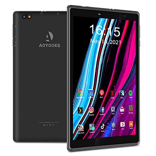Tablette Tactile 8 Pouces Android 10 Tablet PC, 3 Go RAM 32 Go ROM, 128 Go Extensible, Quad-Core, Certifié par Google GMS, 5000 mAh, Type-C, Mode Protection des Yeux, WiFi, FM, Bluetooth
