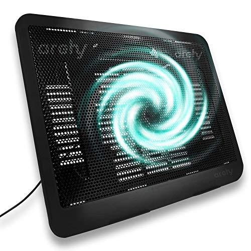 Archy Ventilador Laptop Enfriador refrigeración para computadora portátil Base con Almohadilla Goma Puerto USB 2.0 Luces LED Azul...