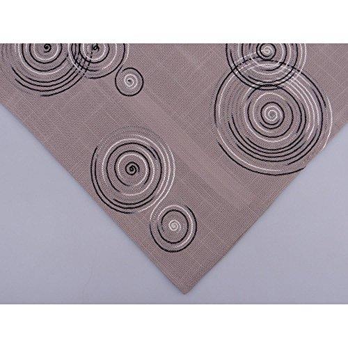 Hossner Tischläufer LUGAU Kreise 40x150cm grau anthrazit