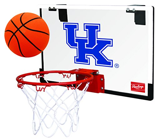 Rawlings NCAA Game On Polycarbonate (PC) Mini Basketball Hoop Set, University of Kentucky Wildcats
