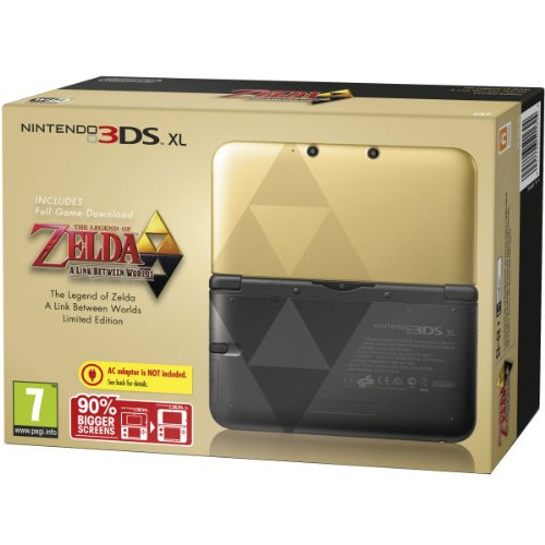 Nintendo Handheld Console 3DS XL - Black & Gold Limited Edition with Zelda A Link Between Worlds [Edizione: Regno Unito]