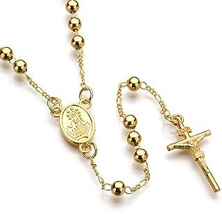 e8653bd477bf Cruz colgante collar del rosario de Jesucristo crucifijo de Hip Hop del  collar de la joyería