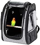 ygb trasportino per animali, gabbia per uccelli gabbia per uccelli per pappagalli borsa per storno pacchetto grande con posatoio portatile per cane gatto grigio
